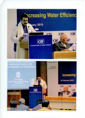 "19th February 2010, CII ""National Seminar on Increasing Water Efficiency in Agriculture Sector"""