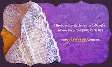 Diseño en invitaciones de boda en tela