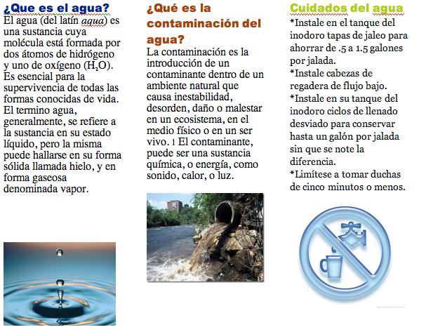 el tema que deberás tratar es el cuidado del agua, deberá tener las