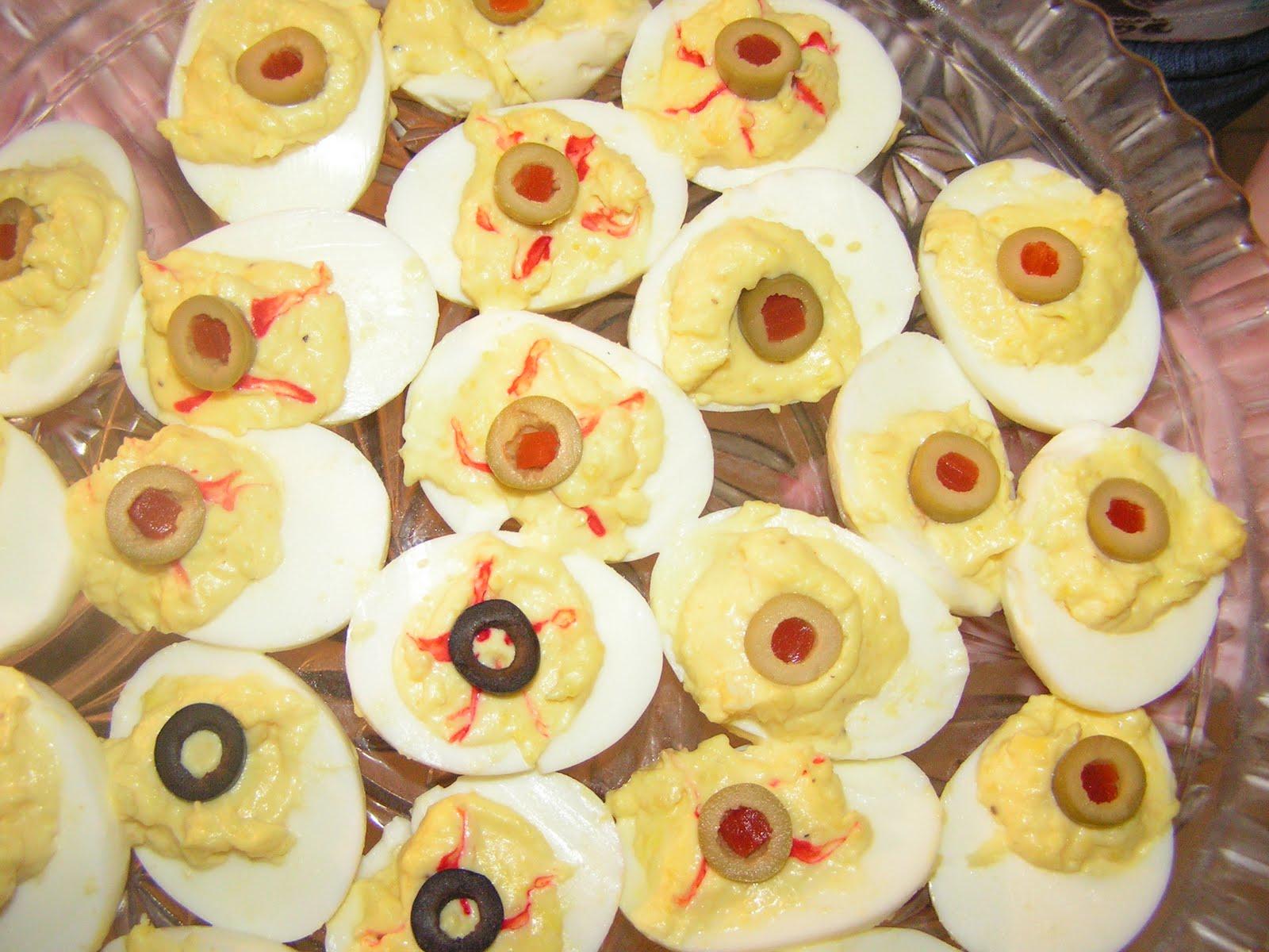 Deviled Egg Eyeballs Halloween