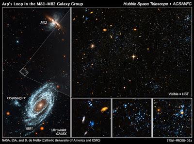 M81 y M82 fotografiadas por el HST