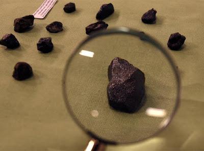 Fragmentos del meteorito de Puerto Lápice
