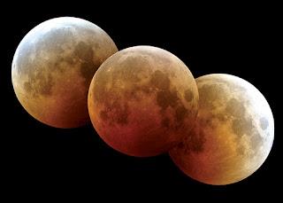 Fotografía de un eclipse total de luna