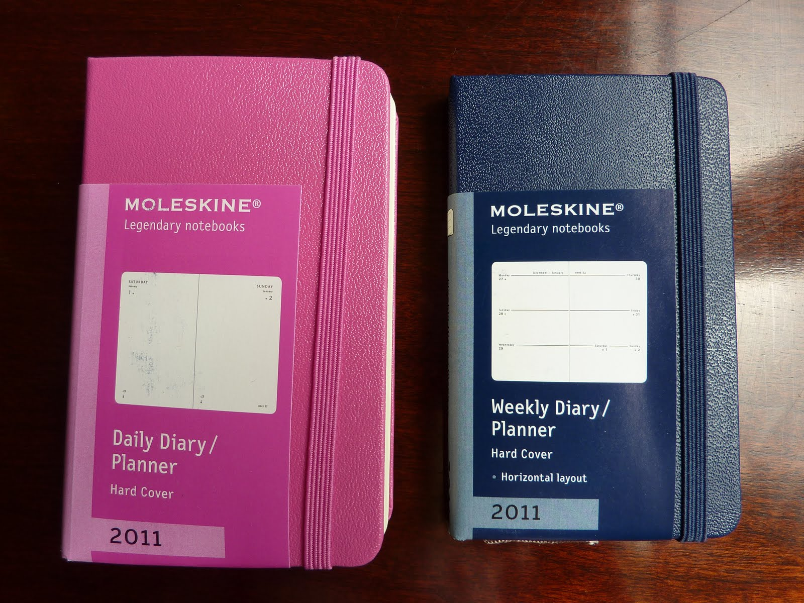 Plannerisms Moleskine 2011 Extra Small Daily And Weekly