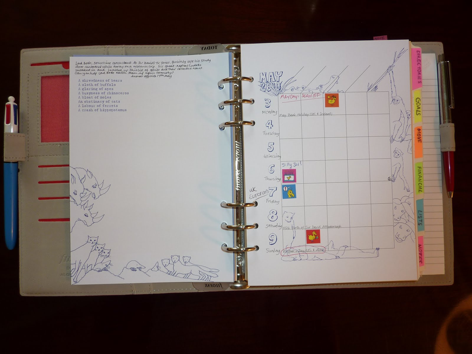 Philofaxy Diary Inserts