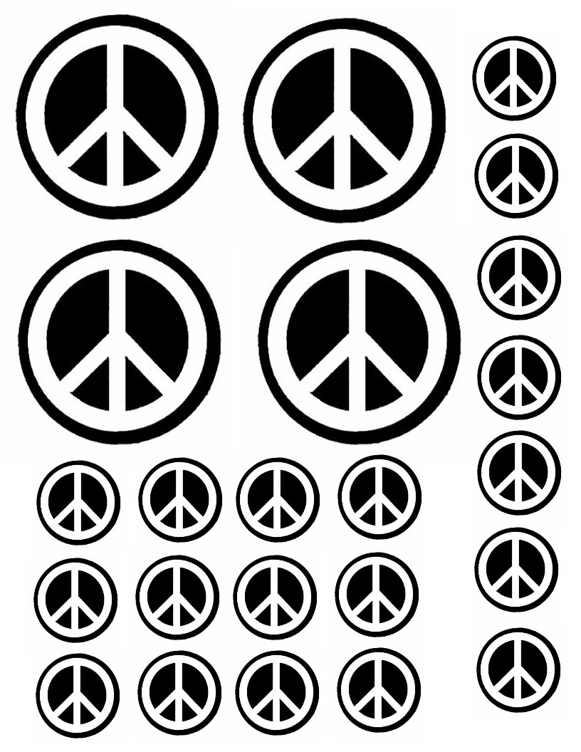 Obsessed image intended for printable peace signs