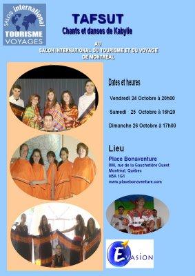 Tafsut au Salon Internation du Tourisme et Voyage de Montréal