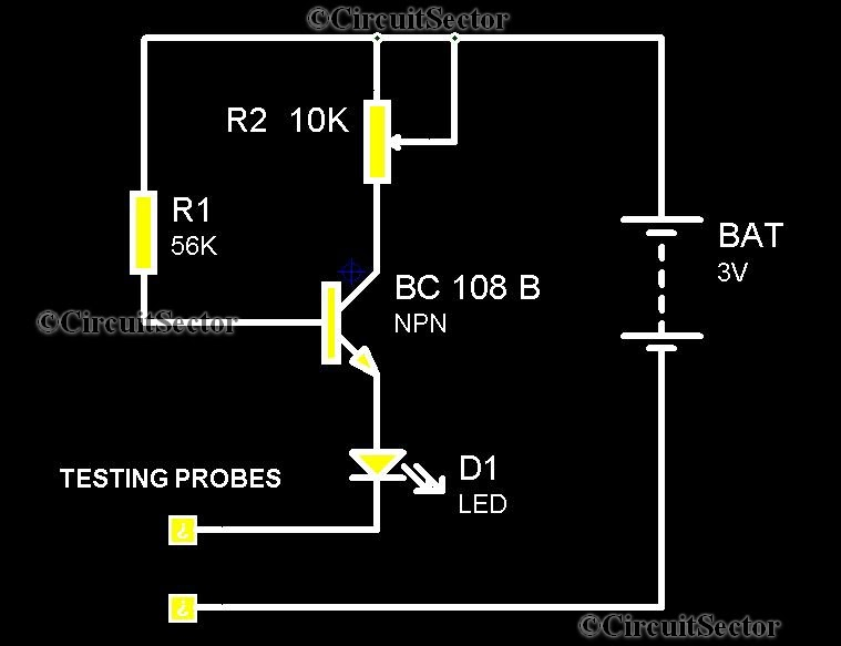 simple continuity tester schematic logic probe schematic