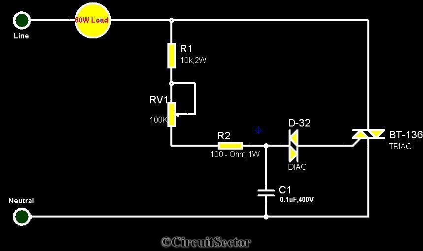 simple electronic fan regulator circuit using triac