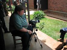 Interviewing Oscar in Cyangugu, Rwanda