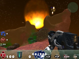 Shooter with destructible world - Celestial Impact