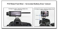 PJ1084: PW Metal Foot Mod - Horizontal Battery Door Version