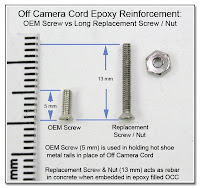 OC1014: Off Camera Cord Epoxy Reinforcement - Screw Comparison