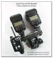 DF1020: Dual Flash Bracket - Monopod Version