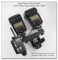 DF1024: Dual Flash Bracket - Monopod Version