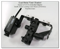 DF1019a: Dual Flash Stand - Metal Shown with PW Attached