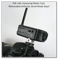 PJ1048: PW with Horizontal Metal Foot, Removable Antenna, and Burst Mode Input