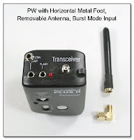 PJ1044: PW with Horizontal Metal Foot, Removable Antenna, and Burst Mode Input