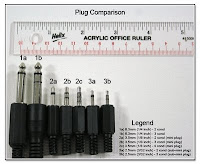 PJ1027: Plug Comparision - !/4, 1/8, 3/32 inches