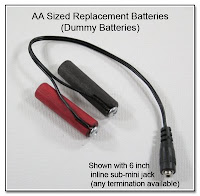 PJ1019: AA Sized Replacement Batteries (Dummy Batteries)