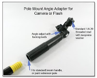 PJ1014: Pole Mount Angle Adapter for Camera or Flash