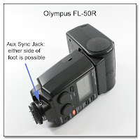AS1030: Olympus FL-50R Flash Unit - Aux Sync Jack Mod