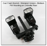 DF1027: Dual Flash Bracket - Monopod Version, Medium Base