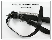 DF1031: Battery Pack Holder on Monopod (without batteries)