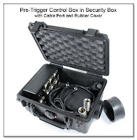 PT1003: 1 x 6 Pre-Trigger control Box in Security Box with Cable Port and Rubber Port Cover