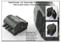 PJ1093: RadioPopper JrX Transmitter Flash Head Mounting: Removable Velcro / Foam Spacer Block
