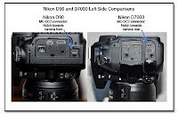 Nikon D90 and D7000 Left Side Comparisons