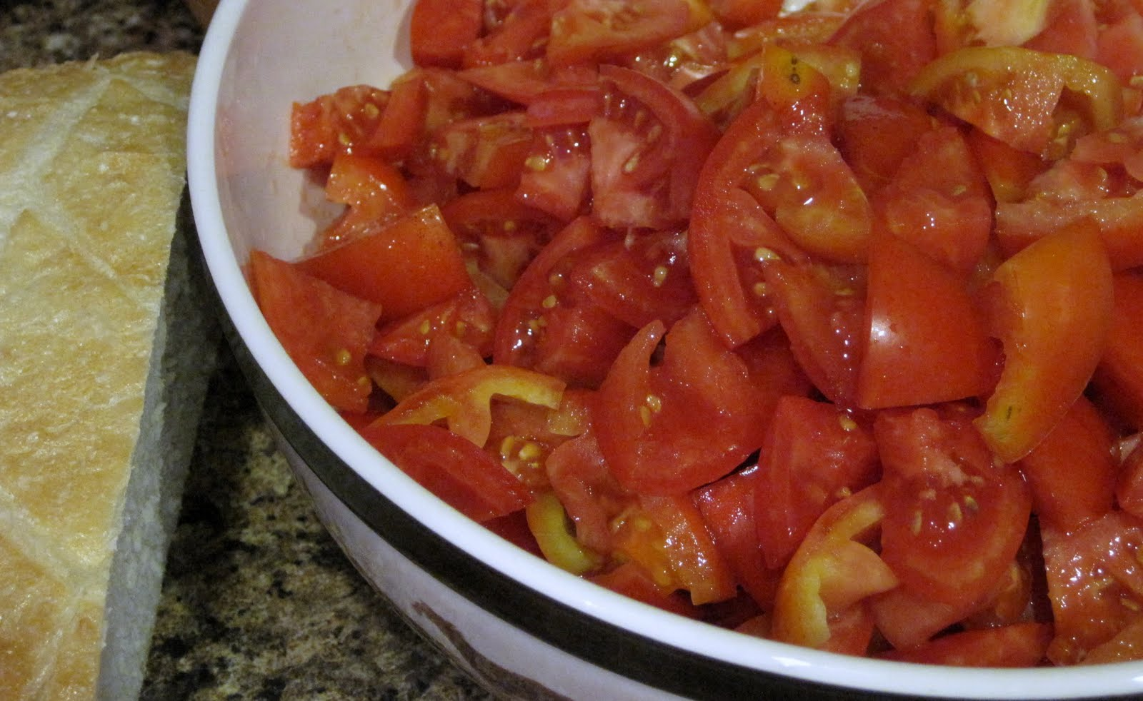 Alissamay's: Scalloped Tomatoes with Croutons