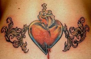 Heart Tribal Tattoo for Women