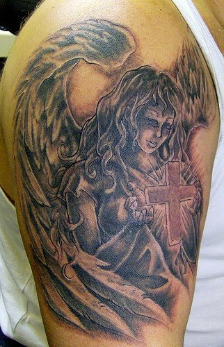 Angel tattoo.