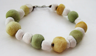 beaded yellow bracelet