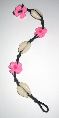 fimo flower and shell bracelet handmade jewellery