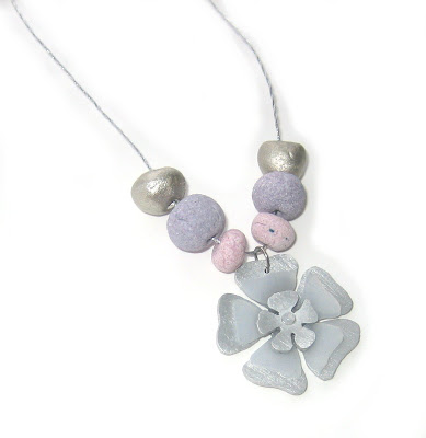 Flower pendant by surf jewels handmade jewellery