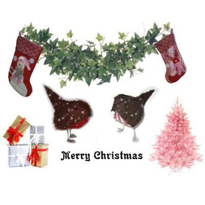 robins at christmas gift decorations