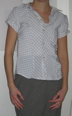 shirt, handmade, recycled,reused, old shirt, buttons, sewn, sewing machine, work, made, pattern