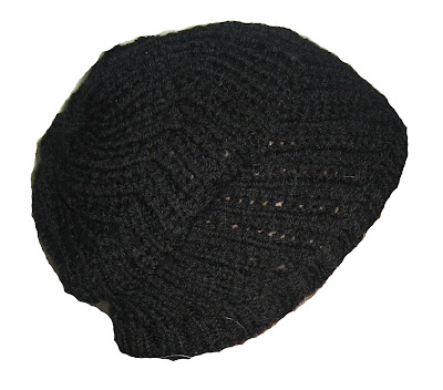 beret, hat, knit, homemade, handmade,black,pretty