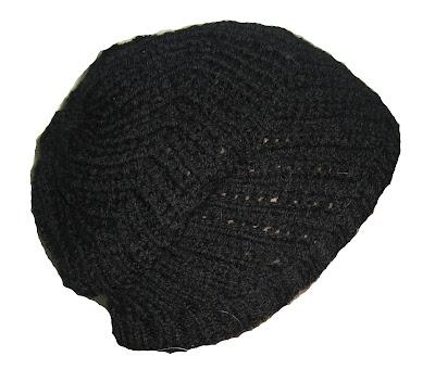 beret, hat, knit, homemade, handmade,black,pretty