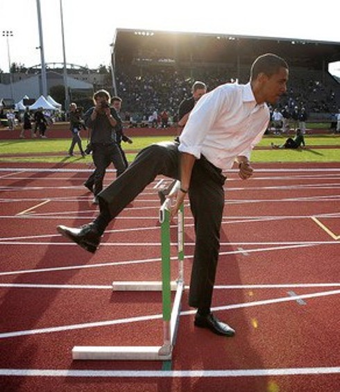 Hurdle FAIL ObamaHurdle