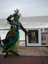 A windswept Ms. Wildgoose at Hastings Jack-in-the-Green, 2009