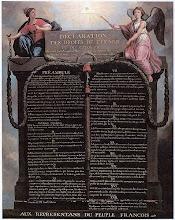 A Declaração dos Direitos do Homem e do Cidadão, promulgada durante a Revolução Francesa