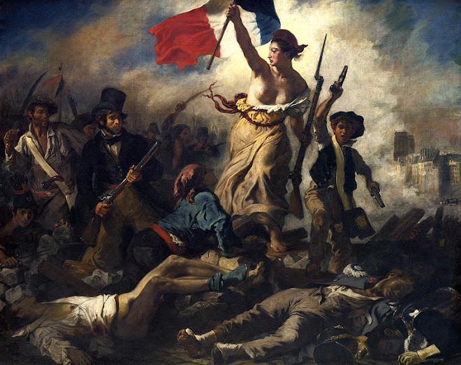 Revolução francesa: igualdade, liberdade e fraternidade.