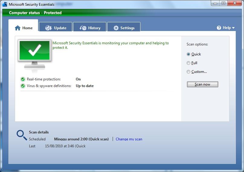 update microsoft security essentials offline