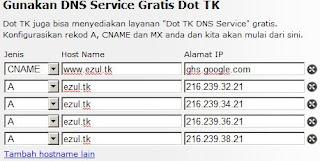 Setting DNS Service Dot TK
