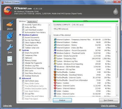 CCleaner Membersihkan Sampah Registry