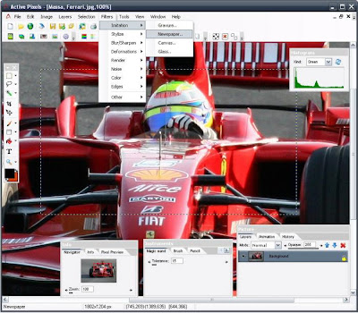 Active Pixels - Free Image Editor Software