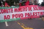 Ato em solidariedade ao povo palestino - BH/MG 15Jan09